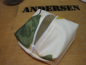 Second version of a zippered pouch